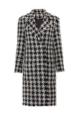 Aubrielle Houndstooth Coat by Joie