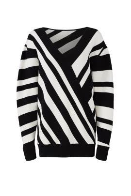 Oversize Stripe Sweater by Jason Wu