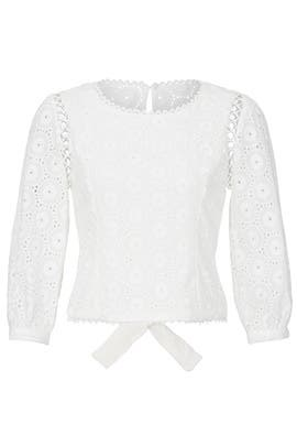 Eyelet Mona Top by Line + Dot
