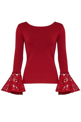 Lace Bell Sleeve Top by Sachin & Babi