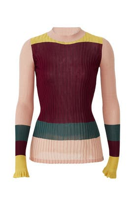Colorblock Rib Knit Sweater by Scotch & Soda