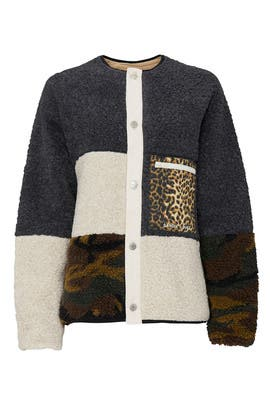 Womp Fleece Jacket by Sandy Liang