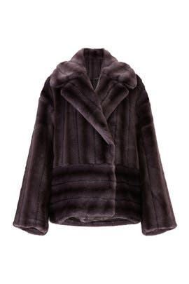 Oversized Faux Mink Jacket by Goen. J