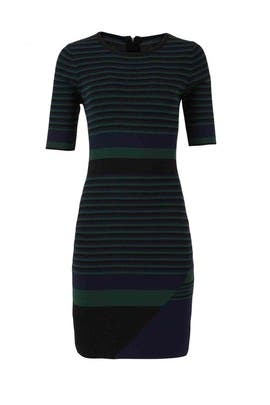 Black Striped Lucy Knit Dress by John + Jenn