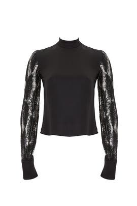 Feathers Macrame Blouse by David Koma