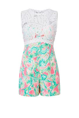 a5eb331ee9a509 Floral Sadie Romper by Lilly Pulitzer for $30 - $40 | Rent the Runway
