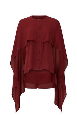 Red Cape Top by Prabal Gurung Collective