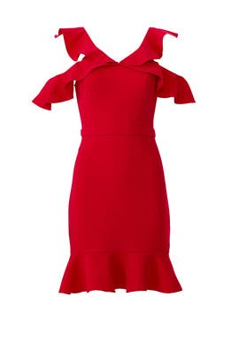 Red Delia Dress by Rachel Zoe
