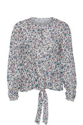 Floral Tie Front Blouse by Slate & Willow