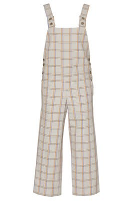 Relaxed Fit Plaid Jumpsuit by TEIJA