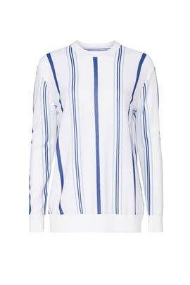 Striped Long Sleeve Sweater by Thakoon Collective