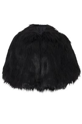 Black Camille Faux Fur Cape by Unreal Fur