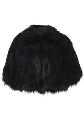 Black Camille Faux Fur Cape by Unreal Fur
