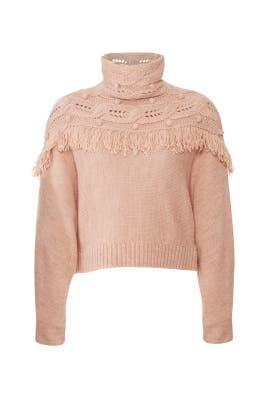 Dust Andie Fringed Sweater by Rachel Zoe