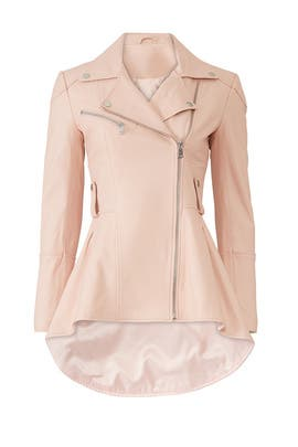 Peplum Leather Jacket by Slate & Willow