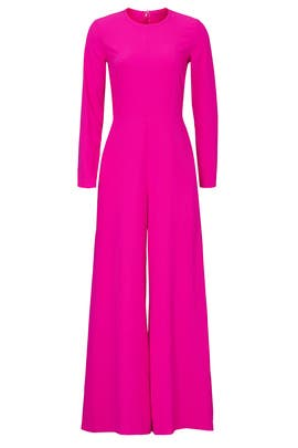Long Sleeve Magenta Jumpsuit by Adam Lippes Collective