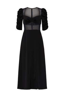 Joanna Satin Dress by Allen Schwartz