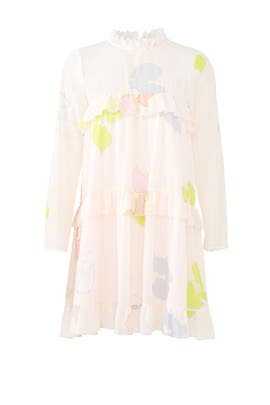 Tiered Floral Ruffle Dress by Cynthia Rowley
