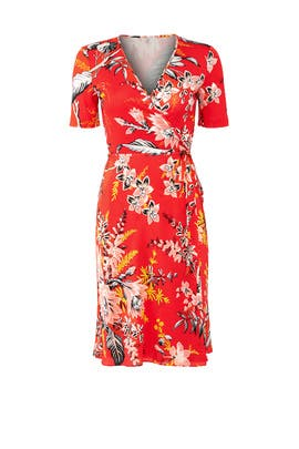 Red Flare Wrap Dress by Diane von Furstenberg