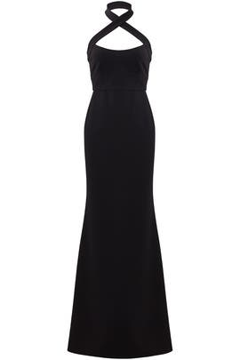 Black Halter Gown by Jill Jill Stuart
