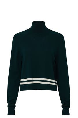 Dark Green Arctic Turtleneck by LNDR