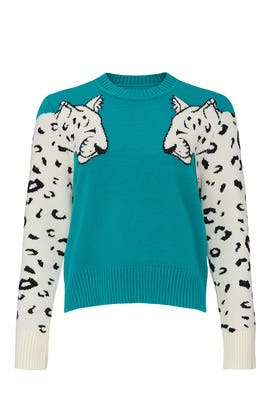 Snow Leopard Knit Sweater by MINKPINK