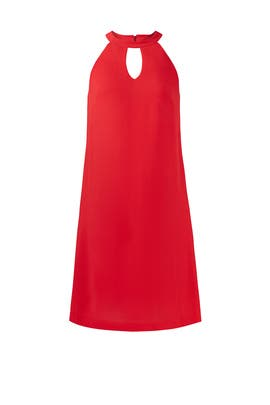 Red Keyhole Dress by Nicole Miller