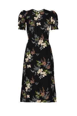 Black Floral Lee Dress by Reformation