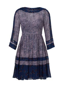 Floral Border Purple Fields Dress by Rebecca Taylor