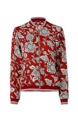 Red Printed Bomber by Scotch & Soda