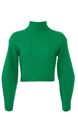 Green Rib Pullover by Tibi