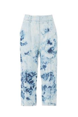 Relaxed Shibori Denim Pants by Victor Alfaro