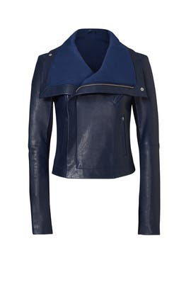 Blue Max Classic Bubble Leather Jacket by VEDA