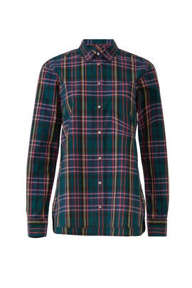 Plaid Classic Fit Boy Shirt by J.Crew