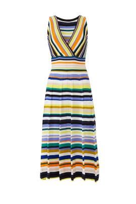 Stripe Surplice Dress by Milly
