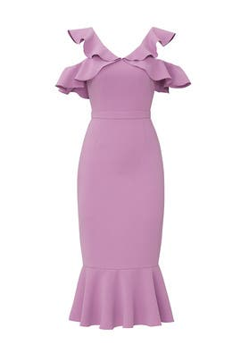 Lilac Ruffle Dress by Rachel Zoe