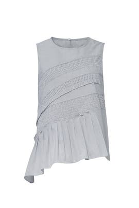Blue Smocked Top by Tibi