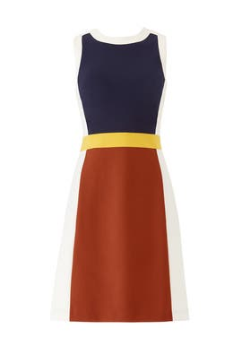Colorblock Mya Dress by Tory Burch