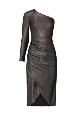 Foiled Jersey Ruched Dress by Aidan AIDAN MATTOX