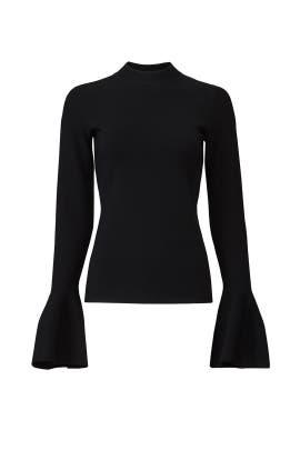 Black Flutter Pullover by Diane von Furstenberg