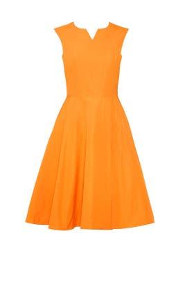 Orange Flare Dress by Jil Sander Navy