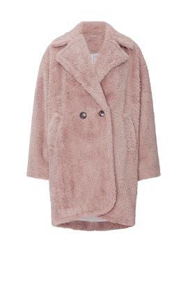 Twilight Rose Faux Fur Teddy Coat by kate spade new york