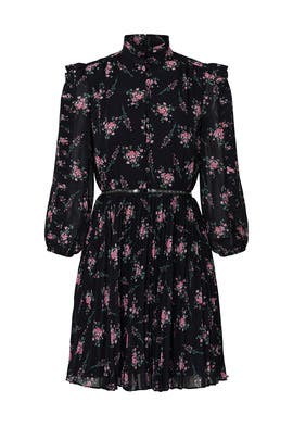 Floral Pleated Dress by ML Monique Lhuillier