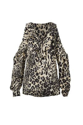 Animal Print Roland Blouse by Parker
