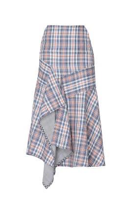 Structured Draped Midi Skirt by TEIJA