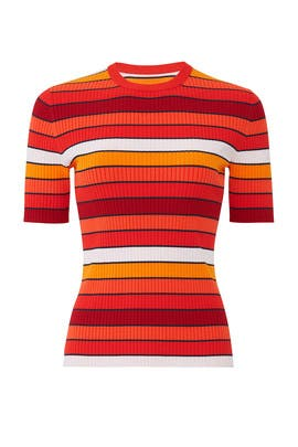 Multi-Stripe Knit Sweater by Tory Sport