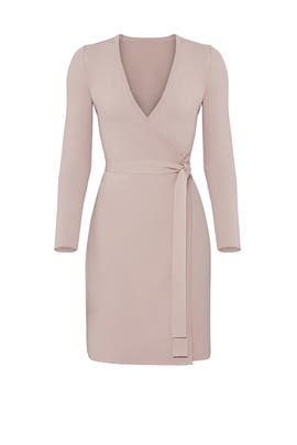 Mauve Knit Wrap Dress by Diane von Furstenberg