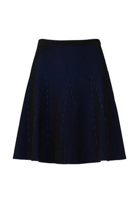 Two Tone Knit Skirt by Diane von Furstenberg