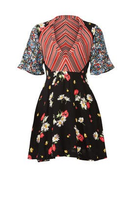 Mix It Up Printed Mini Dress by Free People