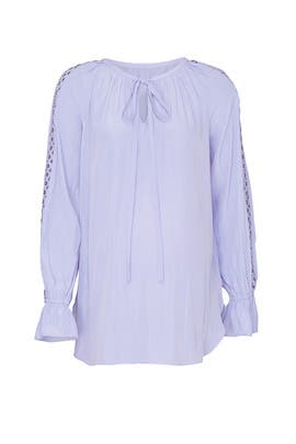Lavendar Trace Maternity Top by FOR 2 by Ramy Brook